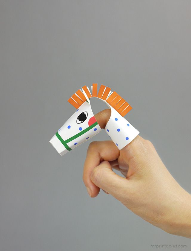 Animal finger puppet - Pipi's horse!