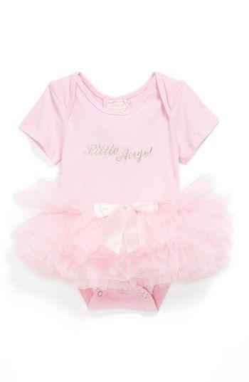 Popatu 'Little Angel' Tutu Bodysuit (Baby Girls) available at #Nordstrom
