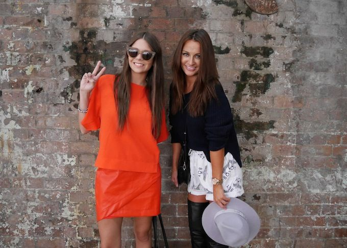 With stunner Kate Boissett at Fashion Week // Spin Dizzy Fall