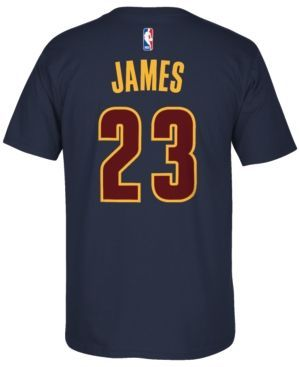 adidas Men's Short-Sleeve LeBron James Cleveland Cavaliers Player T-Shirt - Blue