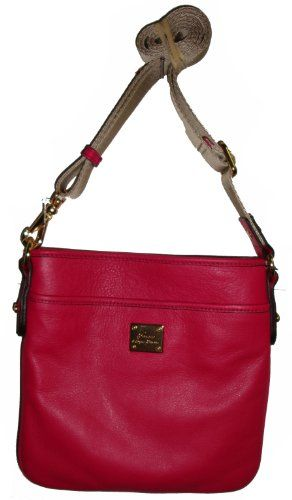 Women's/Girl's Ralph Lauren Leather Stockbridge Tum Flat Crossbody (Petunia)