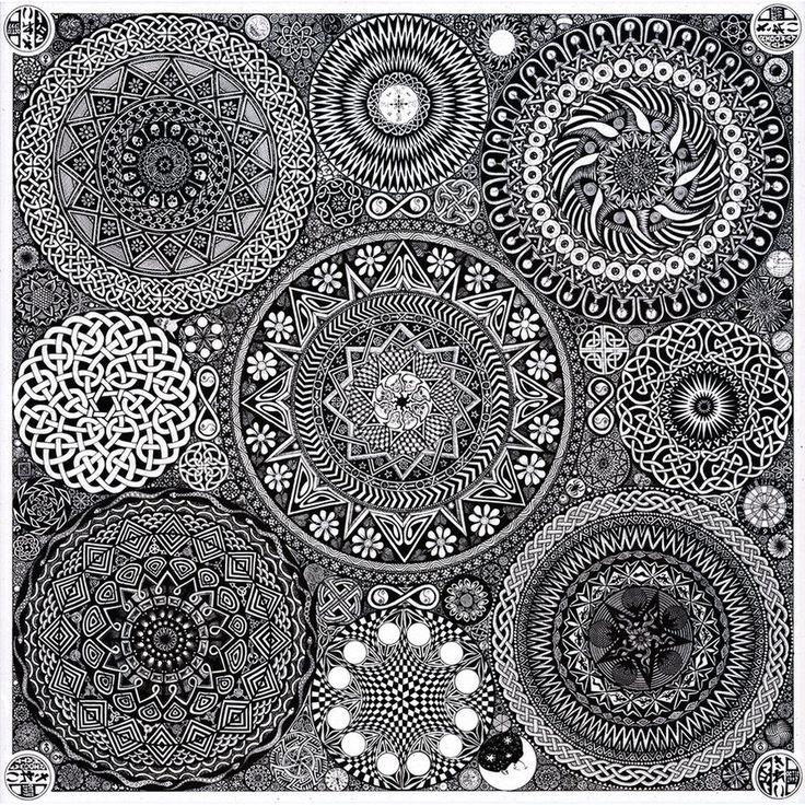 "Mandala Bouquet by mattridgway on deviantART 30"" X 30"""