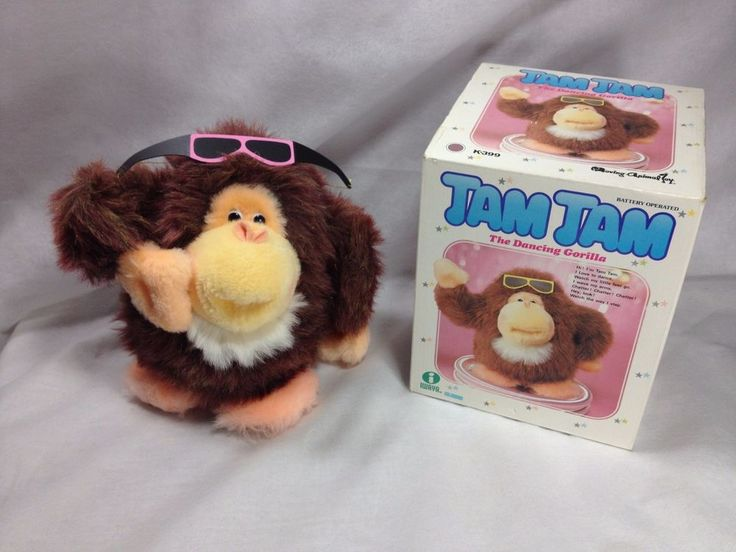 Tam Tam the Dancing Gorilla Plush toy wearing sunglasses battery operated #Iwaya