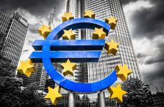 Flag of the European Community - Eurotower stock photo 24637025 - iStock