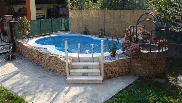 17 migliori idee su piscine fuori terra su pinterest - Piscina fuori terra in pendenza ...