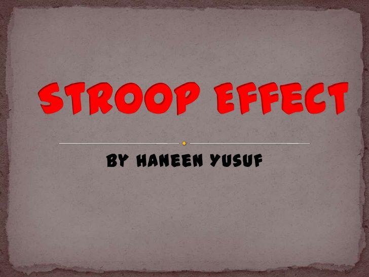 Science Fair - Stroop Effect