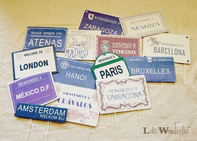 Distintivos mesa. Personalización Eventos: Boda Félix y Sandra by LW