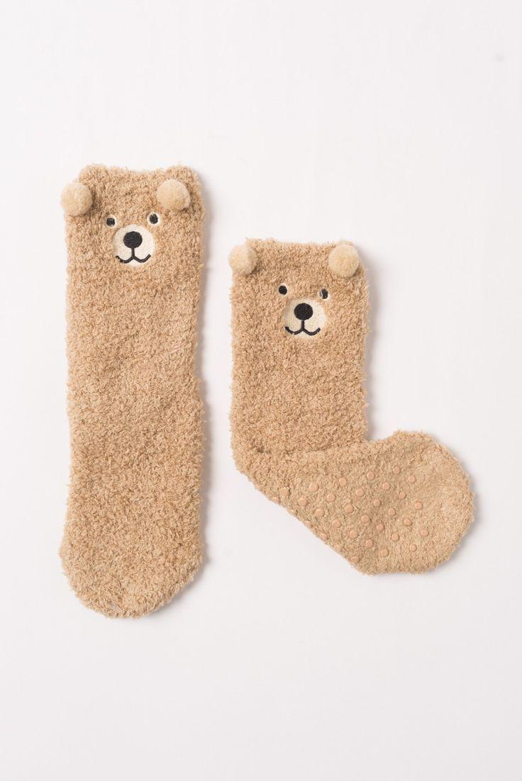 Bear Pon Pon Socks