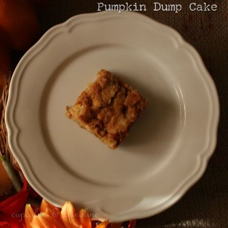 Pumpkin Dump Cake | I'm trying this now (sans butterscotch), so we'll...