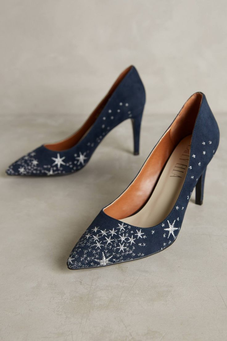 Billy Ella Embroidered Star Pumps | Pinned by topista.com