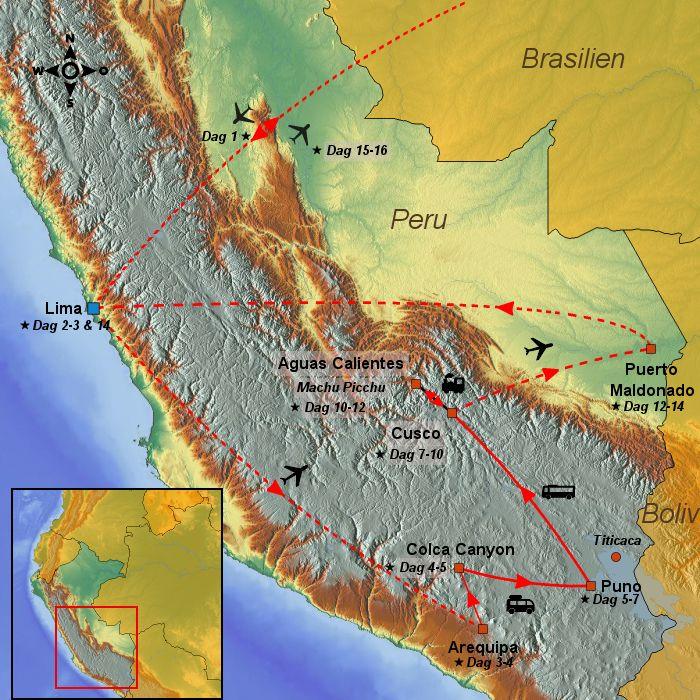 16 Dage Rundrejse Til Peru Med Amazonas Regnskov Rejser Og