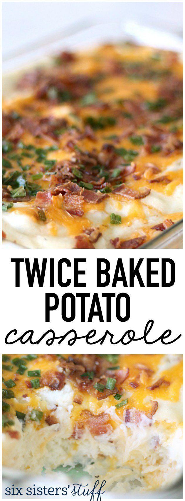 This Twice Baked Potato Casserole from http://SixSistersStuff.com is the most AMAZING…