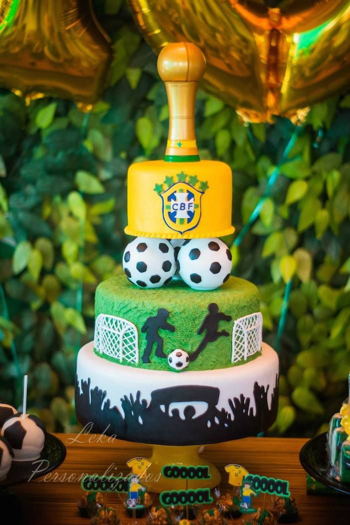 World Cup themed birthday party by Ateliê Leka Personalizados