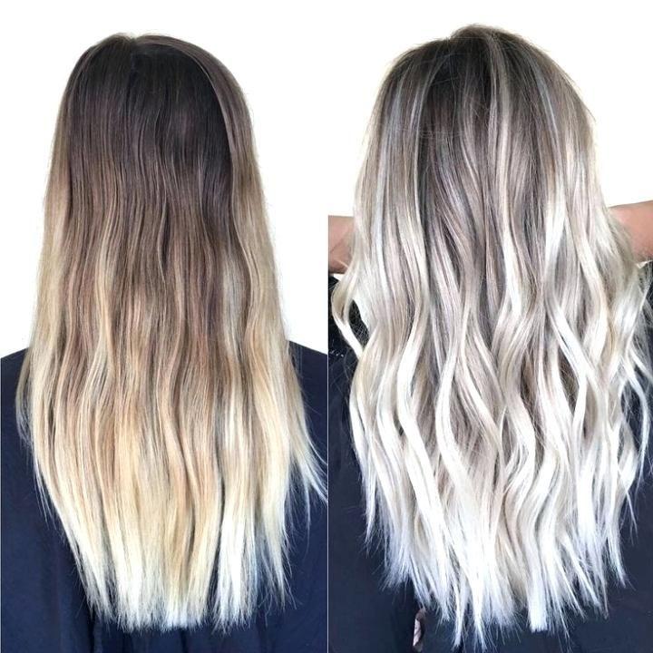 Dark Brown Hair With Platinum Highlights Best Platinum Blonde Highlights Ideas On Blonde Inside Platinum Blonde Hair Styles Balayage Hair Balayage Hair Blonde