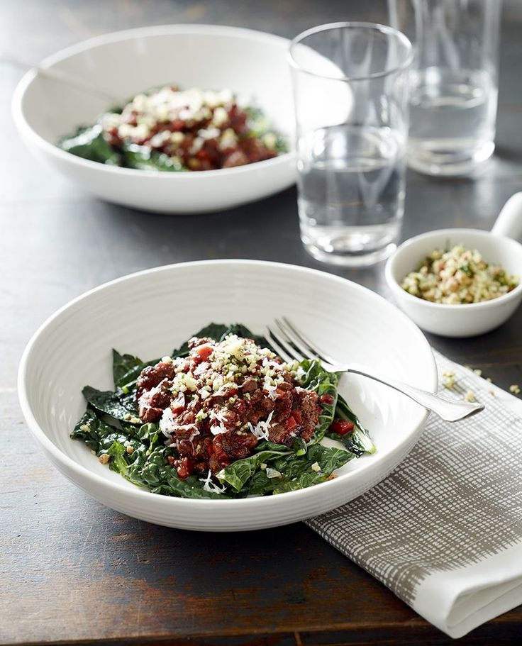 Mum's Grass fed beef Bolognese with kale - Pete Evans