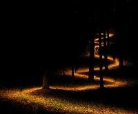 Che ci sia la luna  sul sentiero notturno  di chi porta fiori (Takarai Kikaku)