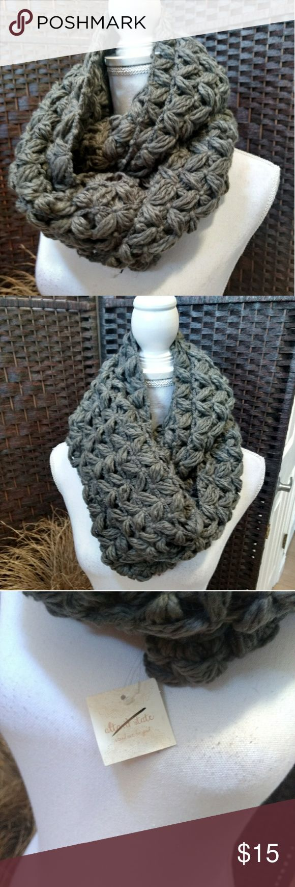 New altared States gray infinity scarf This beautiful grey chunky infinity scarf is a must have for the winter wardrobe. It's new with tags. Altar'd State Accessories Scarves & Wraps
