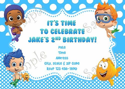the 25+ best bubble guppies invitations ideas on pinterest, Party invitations