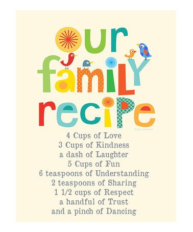 Kids Wall Decor Our Family Recipe Nursery By EllenCrimiTrent