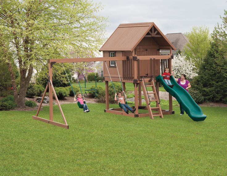 house/swingset- a smaller version for our yard