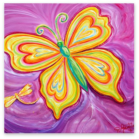 Butterfly Canvas Art   Debbie Marie Arambula   Contemporary Master of Color   Campbell, CA