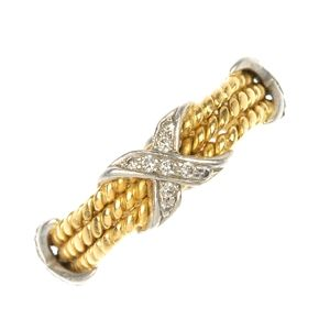 TIFFANY & CO. - an 18ct gold diamond ring by Jean Schlumberger, for Tiffany & Co.