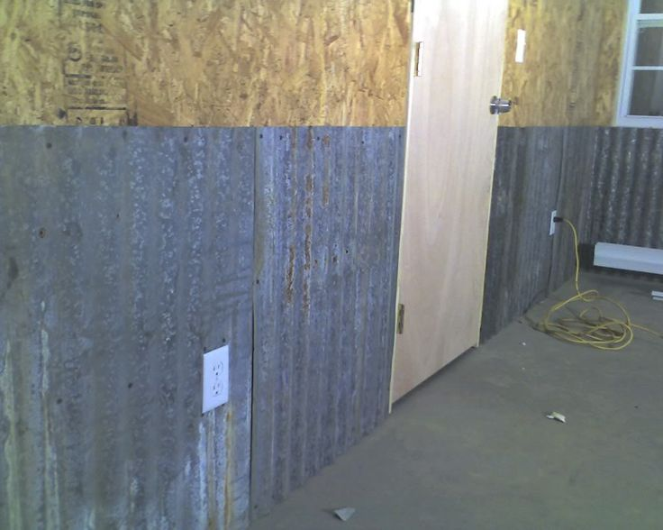 Corrugated metal for interior walls the garage journal board