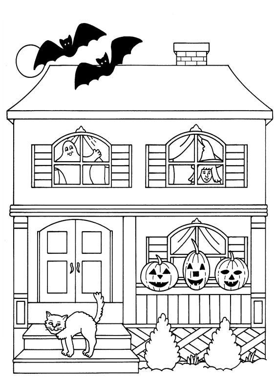 FREE HALLOWEEN COLORING PAGE Not Too Spooky Haunted Mansion For Little Trick