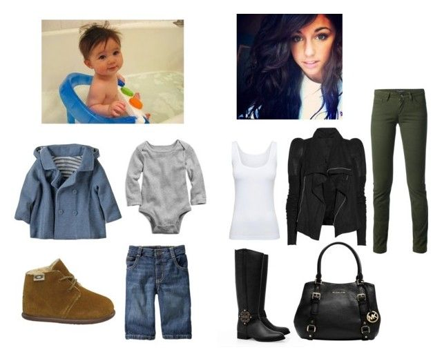 """""""Out to dinner with the Munchkin"""" by gabrielle-hawk ❤ liked on Polyvore featuring Zara, UGG Australia, 77kids, Old Navy, Rick Owens, Boody, Dolce&Gabbana, Tory Burch and MICHAEL Michael Kors"""