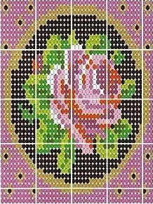 beaded design, also works for cross stitch sort of...