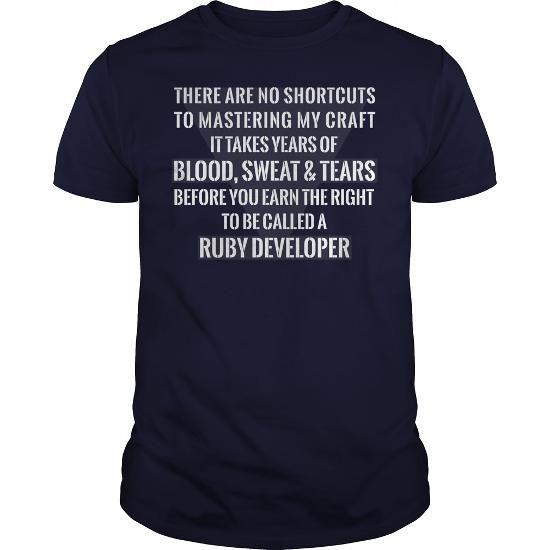 Cool Ruby Developer T-Shirt, Ruby Developer V-Neck, Ruby Developer Unisex Tank Top, Ruby Developer Unisex Long Sleeve, Ruby Developer Hoodie, Ruby Developer Sweat Shirt T-Shirts