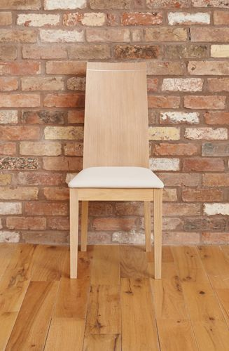 Olten Uno - Stone Dining Chair in Light Oak Finish Pack Of Two #oak #wood #furniture #home #interior #decor #interiorinspiration #livingroom #diningroom #kitchen #lounge #house #dining #table #chair