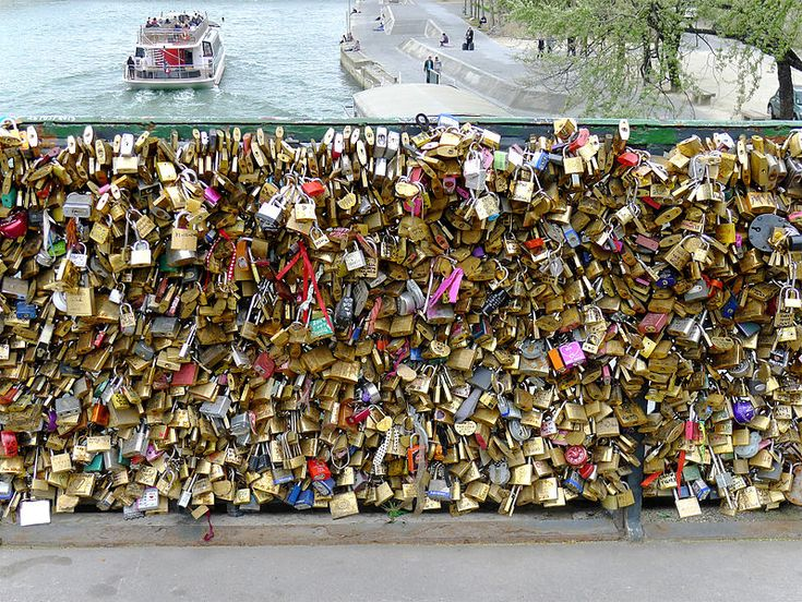 Alove lock, sometimes known as a love padlock, is apadlockwhich couples lock to a public object, most often a bridge, to symbolize their love. After the p