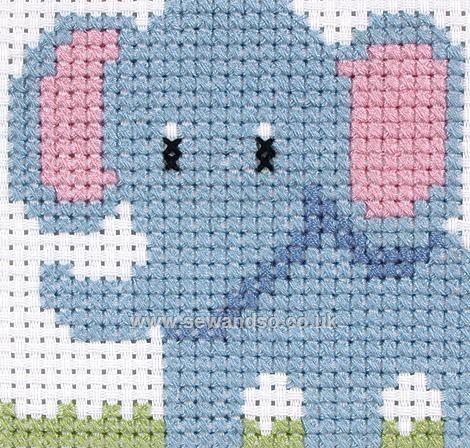 Buy Elephant 1st Cross Stitch Kit Online at www.sewandso.co.uk