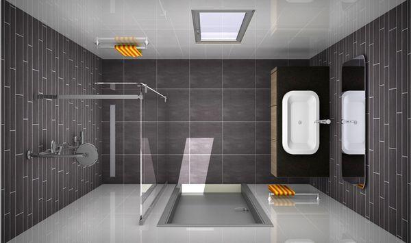 Badkamer Met Grijze Mozaiektegels : ... Badkamer Tegels Ontwerpen op ...