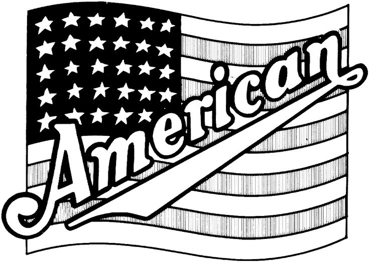 Flags Coloring Printable American Flag Page PageFull Size Image