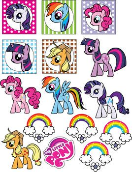 Stickers, My Little Pony, Stickers - Free Printable Ideas from Family Shoppingbag.com