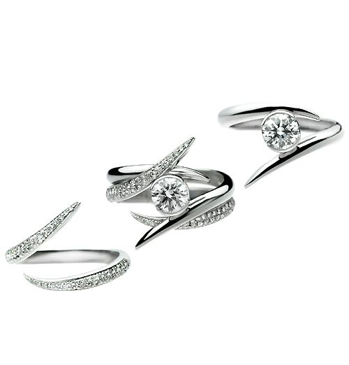 Now Iu0027m Really Not Big On The Whole Wedding Band Added To The Engagement. Interlocking  Wedding RingsShaun ... Design Ideas