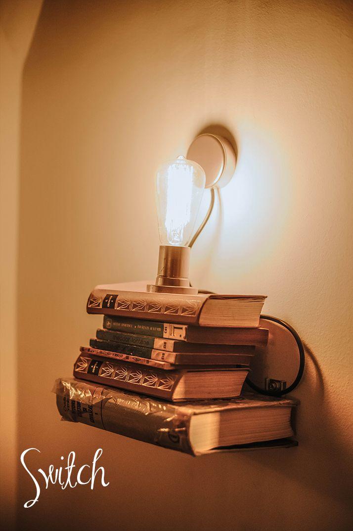 Bulb Edison Style Bookshelf Wall Light