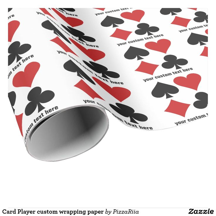 Card Player custom wrapping paper