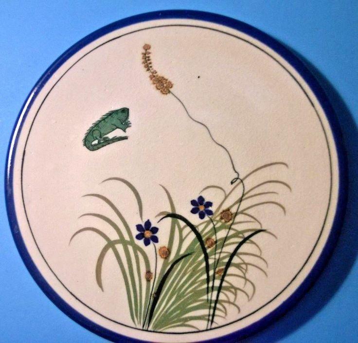 Plate Hand Painted Neogard Puerto Vallarta Pottery Blue Mexico Signed 1999 Latin #NeogardPuretoVallarta