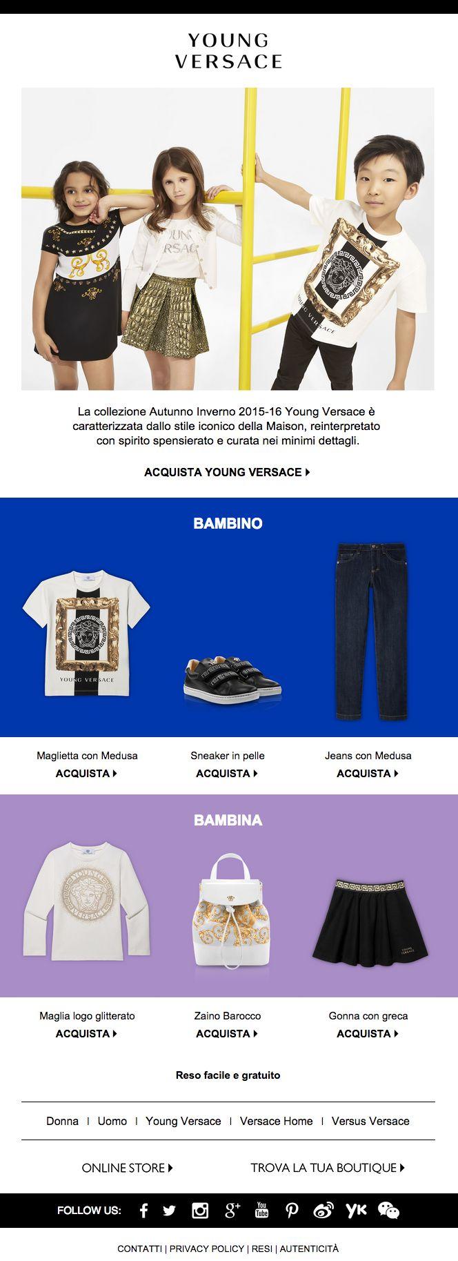 Versace | Back to school con Young Versace