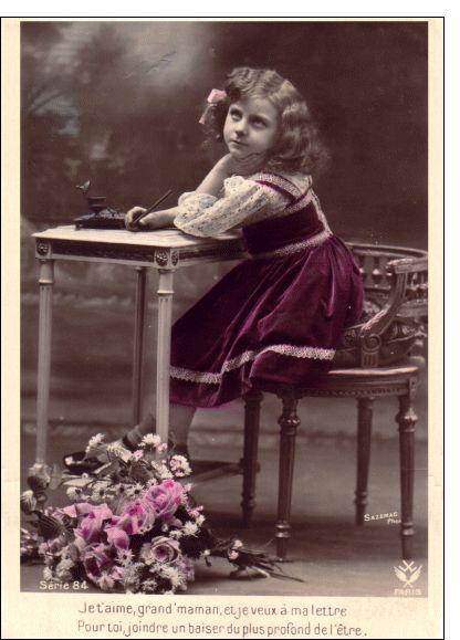 #Carte #ancienne Un baiser du plus profond de l'être pour envoyer par La Poste, sur Merci-Facteur ! #fêtedesgrandsmères