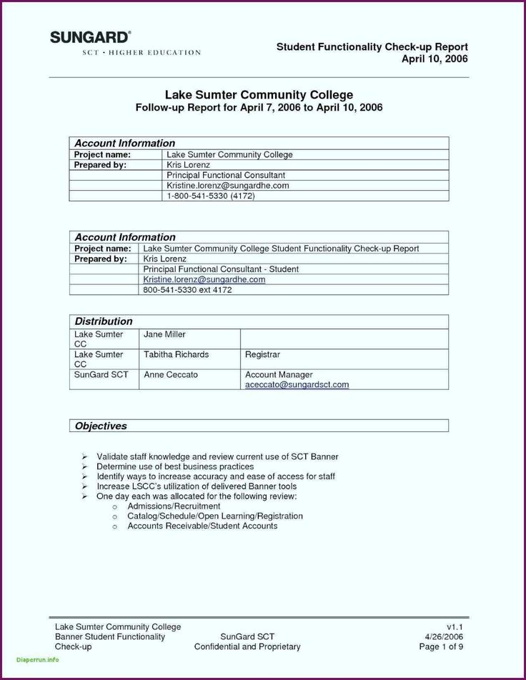 Report Summary Template Sample In Excel Pdf Training