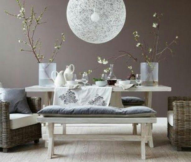 Warme uitstraling grijs bruin muurkleur inspiratie pinterest - Beige warme of koude kleur ...