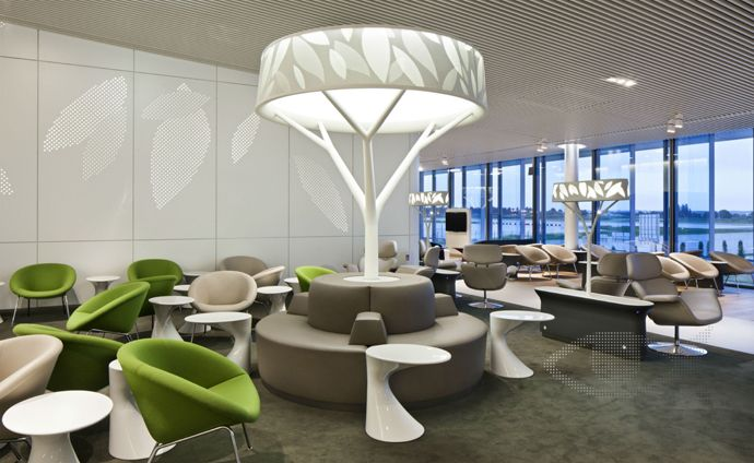 the new air france business lounge design inspirednature