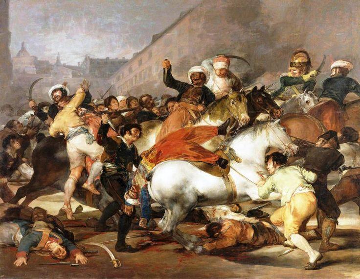 La carga de los mamelucos, de Francisco de Goya.