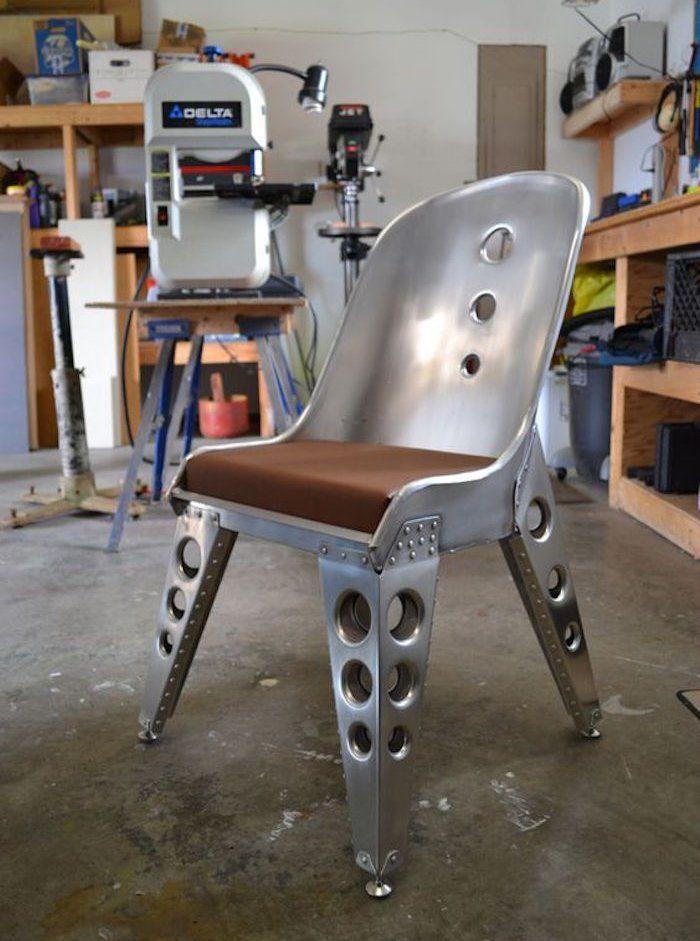Meuble Design Chaise Industrielle Aluminium Metal Industriel 7vbIf6gyYm