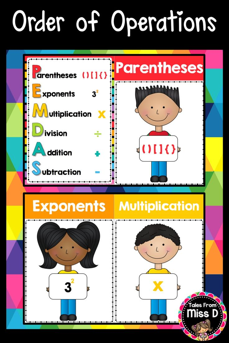 Order Of Operations Posters Order Of Operations Addition And Subtraction Pemdas Order of operations addition