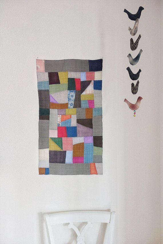 pojagi bojagi korean patchwork wall hanging handmadeframe